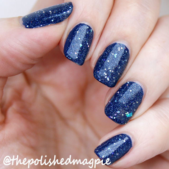 Violet Rose Polish Blue Holo Glitter over Nails Inc The Serpentine