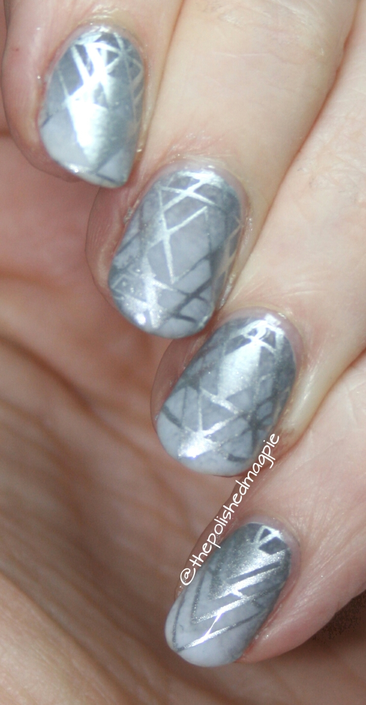 #whencolourscollide challenge - Silver & Grey featuring Born Pretty Store BP-L054